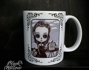 Beatriz The Photographer Mug by Lupe Flores