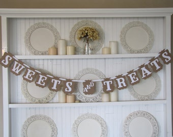 SWEETS and TREATS Banner for Weddings, Parties, and Holidays