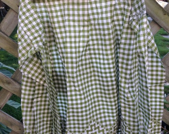 Avocado Green & White Checkered Apron