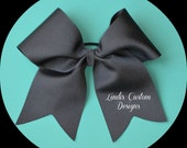 Black Cheerleading Bow, Grosgrain, Game Day, Practice, High School Cheer Bow, Middle School Cheer Bow, Professional Bow