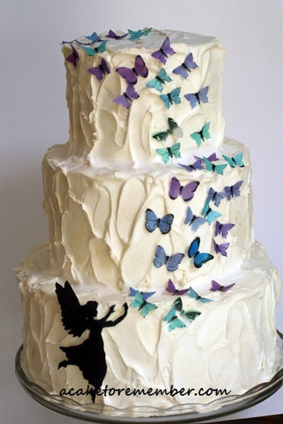 Butterfly Wafers Cake Decoration : Edible butterfly fairy set DIY kit for cake decorating ...
