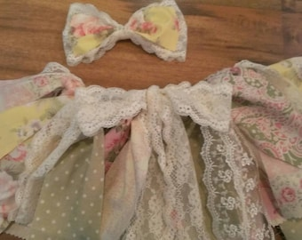 Shabby Chic Tutu with Hair Bow