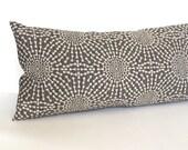 Lumbar Pillow - Grey Pillow - Throw Pillow Cover - Decorative Pillow - Oblong - Textured Upholstery 12x18 12x16 10x20