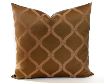 Brown Pillow Cover Decorative Pillow Tone on Tone Upholstery Fabric Throw Pillow Cover Euro Sham 26x26 24x24 22x22 20x20 18x18 16x16