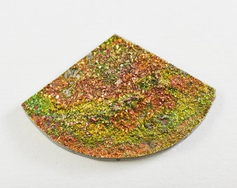 Natural Rainbow Pyrite Druzy Cabochon