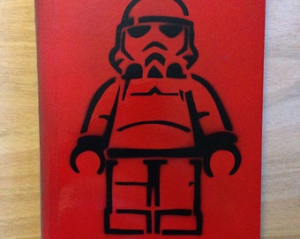 Lego Stormtrooper Notebook Red