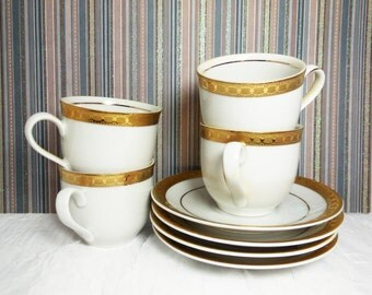 Mitterteich Demitasse Cups & Saucers - Bavaria Germany