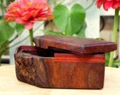 Rustic Wooden Live Corner Edge Walnut Burl Gift Box