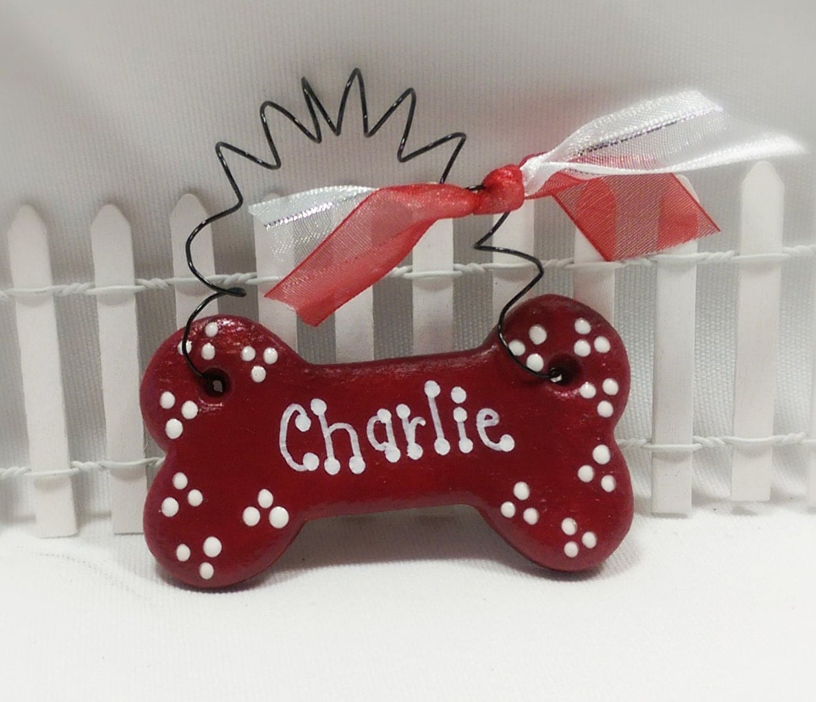 Personalized dog ornament christmas tree ornament for pets for Unique christmas gifts for dog lovers