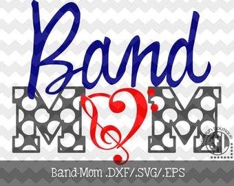Band-Mom Decal Files (.DXF/.SVG/.EPS)  for use with your Silhouette Studio Software