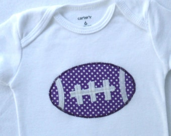 Football Bodysuit baby girl/ Polka Dots / Several Colors Available