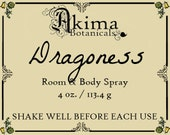 DRAGONESS Room & Body Spray 4oz ~ dragons blood, sandalwood, rose, chocolate, patchouli ~ Free from alcohol, parabens, preservatives ~ gift