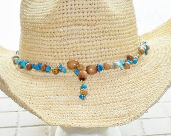 Handmade Cowboy Cowgirl Hatband Hat Jewelry Horse Show Tack Gift for Her or Him Christmas Birthday