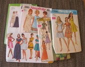 1960's Simplicity Sewing Patterns Misses' Size 10 Dress Skirt Lot of 5