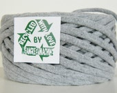 Recycled T Shirt Yarn, Gray 34.5 Yrds, T- Shirt Yarn, Tarn