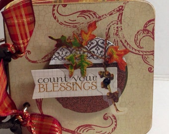 Fall Family scrapbook premade pages mini album brag book Thanksgiving
