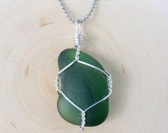 Deep Waters Sea Glass Pendant