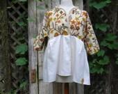 Handmade Jacket,Eco Jacket,Shabby Chic Jacket,Size L-XL Jacket,Boho Jacket,by Nine Muses Of Crete
