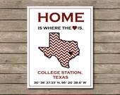 Texas A&M University Printable, Aggies College Station, Texas Art Print Gig em