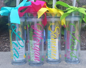 Wedding Tumblers,  Bride, Bridesmaid gifts, Sorority Gift, Wedding day, Bridal Party Cups, Bachelorette Party