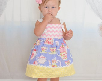 tea party baby girls dress