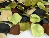 200 Camouflage Wedding Rose Petals - Camo Baby Shower Decoration - Hunting Theme Party - Table Scatter - Camo Wedding Decoration