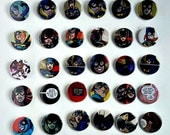 Buy 5 Get 1 FREE--Comic Pin Back Buttons Featuring Batgirl Stephanie Brown Barbara Gordon Black Bat Cassandra Cain