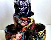 Comic Book Bracelet Featuring Rogue and Gambit