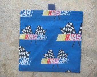 TRY ME SALE - One Bag for 2.20 - Reusable Sandwich Bag or Snack Bag with easy open tabs-Nascar