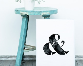 Ampersand Watercolour Print