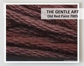 OLD RED PAINT 7005 : Gentle Art 6- strand embroidery floss Simply Shaker Sampler Threads fast hand overdyed cross stitch