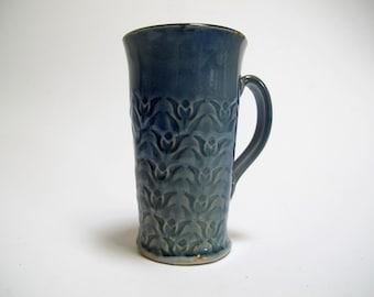 Porcelain Mug, Cup, Porcelain Coffee Cup, Mug, Handmade Mug, Unique Cup, Blue Mug