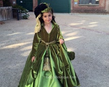 GWTW Pageant OOC costume Scarlett O'hara Drapery Green Courtain Dress gone with the wind Southerbell Dress Plantation dress 12m up 7/8  yr