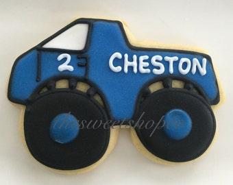 Monster Truck Cookies 2 dozen