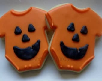 Halloween Baby Shower cookies 2 dozen