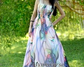 Dreamy Maxi Dress - Chiffon Dress Women Maxi Dresses Prom Plus Size Abstract