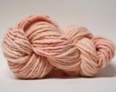 Single Ply Yarn Merino Slub Hand Dyed 44sp15007 Warm Peach