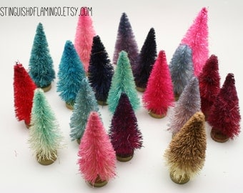 "2.75"" Dip Dyed Bottlebrush Trees  in Every Color by Distinguished Flamingo"