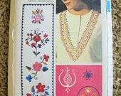 1970s EMBROIDERY Transfers, trims, Boarders - Butterick Yoke Top / Shirt, No. 4106 from 1970s UnCUT