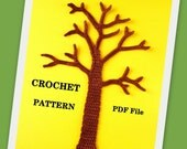 Tree Applique Crochet PATTERN PDF