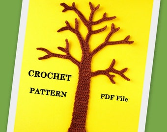 Tree Applique Crochet PATTERN PDF
