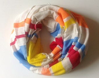 Wool Scarf - Tutti Frutti pop color wool scarf- cotton & wool blend scarf for Men and Women- Ethiopian scarves and wraps- orange blue yellow