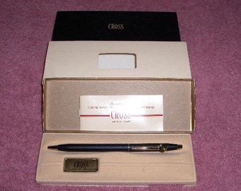 "Cross Pen Ladies Classic Black Gold Highlights W/ Hummingbird Clip Model 2502 ""Mother's Day Gift"""