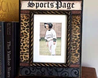 FATHERS DAY Sports Photo Frame Football Baseball Soccer Personalize Dad Mom Gift Men Man Cave Mothers Day Sports Mom Office Decor Quick Ship