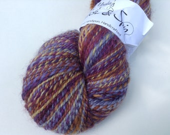"""Handspun merino silk sparkle, sport, """"Aldebaran"""" 4.5 oz, 311 yds"""