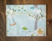 Reusable Small Snack Bag Snap Down - Windy Day - Micheal Miller
