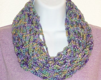 Openweave All Weather Scarf - Watercolors Artfully Simple Infinity Scarf/Cowl with Tieback