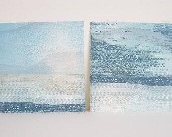 "SALE .  Landscape . Home Decor: Striation 226 + 233. Print Size 9 1/2"" x 9 1/2"" . Unframed"
