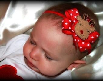 Christmas hair bow headband, baby's first Christmas hair bow , Christmas headband, Christmas bow,  Perfect For Baby's First Christmas