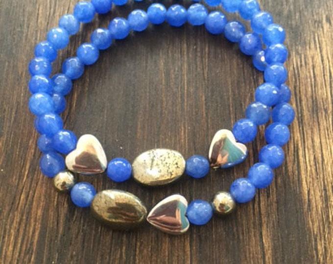 Pacific Sea Blue Bracelet Set // Jewelry